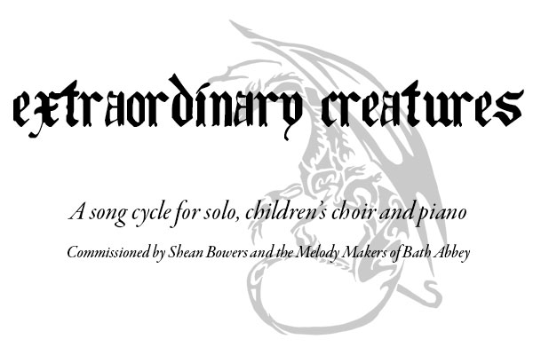 Extraordinary Creatures Sheet Music - a song cycle by Jools Scott and Sue Curtis